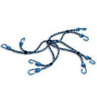 Corde - Sangle - Sandow - Chaine Araignee 8 bras + crochet - Acier plastifie - 8 mm