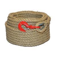Corde - Sangle - Sandow - Chaine Corde a poulie cordage - Polypropylene - 20 mm x 20 m - Beige