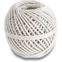 Corde - Sangle - Sandow - Chaine Cordeau coton cable - Resistance a la rupture indicative 20 kg - O 2.5 mm x 30 m