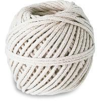 Corde - Sangle - Sandow - Chaine Cordeau coton tresse - Resistance a la rupture indicative 32 kg - O 3 mm x 24 m