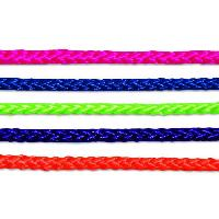 Corde - Sangle - Sandow - Chaine Corde polypropylene et polyester tressee - O 4 mm x 20 m - Coloris assortis