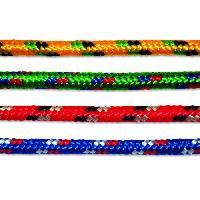 Corde - Sangle - Sandow - Chaine Corde polypropylene et polyester tressee - O 9 mm x 7.5 m - Coloris assortis