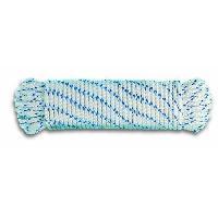 Corde - Sangle - Sandow - Chaine Corde polypropylene tressée - Résistance a la rupture indicative 1 T - Ø 10 mm x 7.5 m - Blanc et bleu Generique
