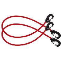 Corde - Sangle - Sandow - Chaine Sandows mousquetons 60cm x 8mm x2 - Joubert