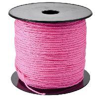 Corde - Sangle - Sandow - Chaine Tresse - Polypropylene - 2 mm x 200 m - Rose fluo