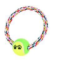 Corde De Jeu Pour Animal Balle de tennis sur une corde pour chien
