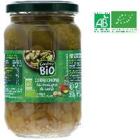 Cornichon Cornichons au vinaigre de cidre bio - Pasteurises - 185 g