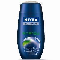 Corps Et Visage NIVEA Gel de douche Energy - Pour homme - 250 ml