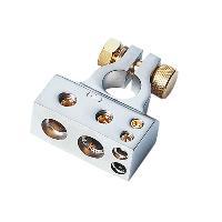 Cosses - Fils Cosse de Batterie - 1x35mm2 1x20mm2 2x10mm2 - Borne plus Argent - ADNAuto