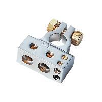 Cosses Batteries Cosse de Batterie - 1x35mm2 + 1x20mm2 + 2x10mm2 - Borne moins Argent