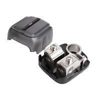 Cosses Batteries Cosse de Batterie - 2x203550mm2 - Borne plus Argent - Pour mini fusibles ANL - ADNAuto