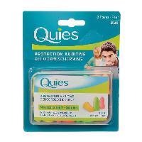 Coton-tige - Cure-oreille Protection auditive - Mousse confort - Fluo - 8 paires