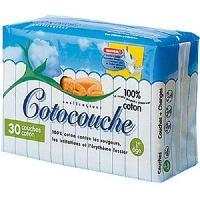 Couche Jetable - Couche D?apprentissage COTOCOUCHES 30 Matelas Coton 1er Age