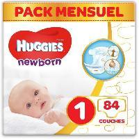 Couche Jetable - Couche D?apprentissage HUGGIES Newborn (Nouveaux-nés) Couches Bébé Unisexe x84 Taille 1