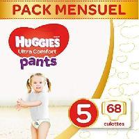 Couche Jetable - Couche D?apprentissage HUGGIES Ultra Comfort - Culottes Bébé Unisexe x68 Taille 5