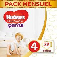 Couche Jetable - Couche D?apprentissage HUGGIES Ultra Comfort - Culottes Bébé Unisexe x72 Taille 4