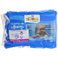 Couche Jetable - Couche D?apprentissage LES TILAPINS Couche de bain -Taille 4 - De 7 a 13kg - 12 Culottes de bain