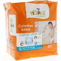 Couche Jetable - Couche D?apprentissage LES TILAPINS Culottes bébé Taille 5 - 12 a 18kg - 20 couches