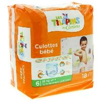 Couche Jetable - Couche D?apprentissage LES TILAPINS Culottes bébé Taille 6 - 16 kg et plus - Extra large - 18 couches