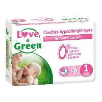 Couche Jetable - Couche D?apprentissage LOVE et GREEN - Couches Ecologiques Hypoallergeniques 0 T1 x23