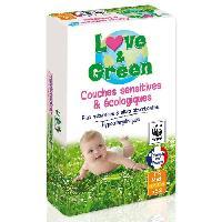 Couche Jetable - Couche D?apprentissage LOVE et GREEN - Couches Ecologiques Hypoallergeniques 0 T3 x52