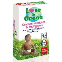 Couche Jetable - Couche D?apprentissage LOVE et GREEN - Couches Ecologiques Hypoallergeniques 0 T4 x46
