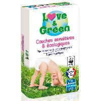 Couche Jetable - Couche D?apprentissage LOVE et GREEN - Couches Ecologiques Hypoallergeniques 0 T5 x40