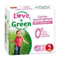 Couche Jetable - Couche D?apprentissage LOVE et GREEN - Culottes Apprentissage Ecologiques Hypoallergeniques 0 T4 x 20