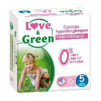 Couche Jetable - Couche D?apprentissage LOVE et GREEN - Culottes Apprentissage Ecologiques Hypoallergeniques 0 T5 x 18