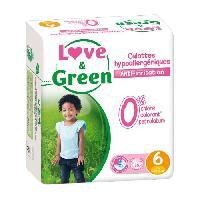 Couche Jetable - Couche D?apprentissage LOVE et GREEN - Culottes Apprentissage Ecologiques Hypoallergeniques 0 T6 x 16