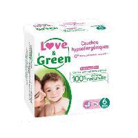 Couche Jetable - Couche D?apprentissage LOVE et GREEN Couches hypoallergeniques T6x34