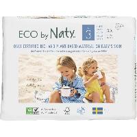 Couche Jetable - Couche D?apprentissage NATY Couches écologiques T3 Midi  x 30 - Blanc