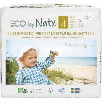 Couche Jetable - Couche D?apprentissage NATY Couches écologiques T4 Maxi x 26 - Blanc