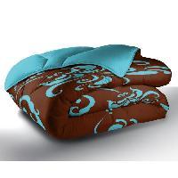 Couette Couette Imprimée LILY BLUE 100% Polyester 220x240cm Aucune