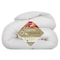 Couette Couette Naturelle Duvet et Plumettes 220x240 cm blanc