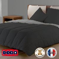 Couette DODO Couette Bicolore Gris Foncé/Gris Clair 200x200cm Aucune