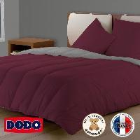 Couette DODO Couette Bicolore Prune/Gris Clair 220x240cm Aucune
