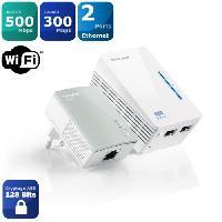 Courant Porteur - Cpl TP-Link TL-WPA4220 KIT kit de 2 CPL 600 Mbps Wi-Fi 300 Mbps avec 2 Ports Ethernet - Solution idéale pour profiter du service Multi-T - Tplink