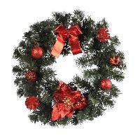 Couronne De Noel AUTOUR DE MINUIT Couronne décoré - Ø35 cm - Rouge - Aucune