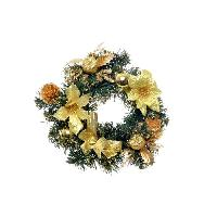 Couronne De Noel Couronne de Noël en PVC - Ø 30 cm - Or - Generique