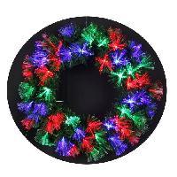 Couronne De Noel Couronne de Noël lumineuse Las Vegas 60 LEDs - 60 branches - Ø 45 cm - Base verte - Generique