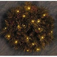 Couronne De Noel Couronne de Noël lumineuse décorée 20 LEDs - Ø 40 cm - Blanc chaud - Generique