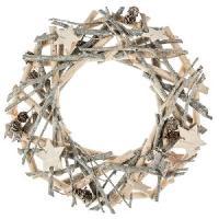 Couronne De Noel Couronne décorative a suspendre 138249D - En bois - Feeric Light & Christmas
