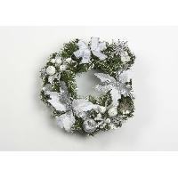 Couronne De Noel Couronne décorative de Noël en PVC - Ø 30 cm - Argent - Generique