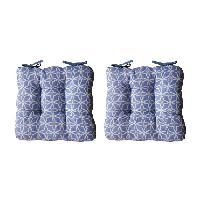 Coussin De Chaise - Galette 2 galettes de chaises MAX GEOMETRICO 38x38 cm - Bleu