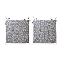 Coussin De Chaise - Galette 2 galettes de chaises dehoussables CONFORT 38x38 cm - Gris