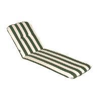 Coussin De Chaise - Galette Coussin bain de soleil CANCALE Vert 184x59x5.5cm