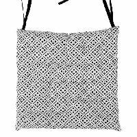 Coussin De Chaise - Galette Galette de chaise 100 coton 25 points CLOVER 40x40x4 cm noir et blanc