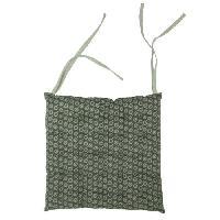 Coussin De Chaise - Galette Galette de chaise 100 coton 25 points SUNFLOWER 40x40x4 cm gris anthracite