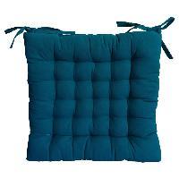 Coussin De Chaise - Galette Galette de chaise 25 points 40x40x4cm bleu canard